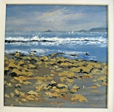 David Beer Sennen Cove Oil On Board St Ives Gallery. • 175£