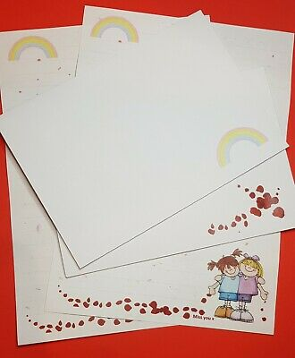 £3.99 • Buy Rainbow Girls - Letter Writing Paper Set - With Matching Envelopes 12+6 (lined)