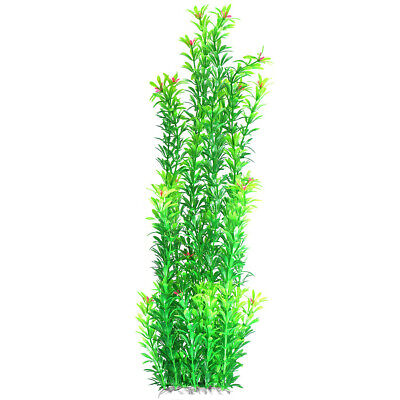 Plastic Plant Aquarium Fish Tank Underwater Grass 15-50cm Aquatic Weed #N3R • 7.29£