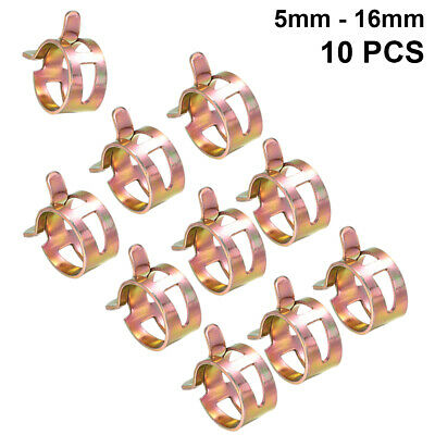 Stainless Steel 5-16mm Spring Clips Fuel Line Hose Air Tube Clamps Fastener * UK • 2.99£