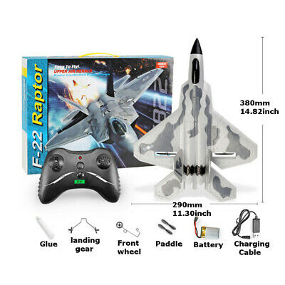 £239.99 • Buy RTR RC RADIO REMOTE CONTROL F22 Raptor Model Fight Air Plane LARGE OUTDOOR 2.4G