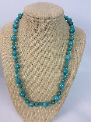 $ CDN177.19 • Buy Beautiful Whitney Kelly  WK Sterling Silver  925 Round Turquoise Bead Necklace