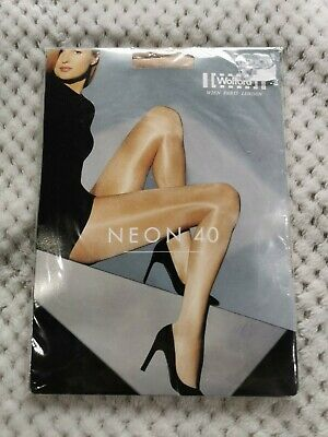 Wolford Neon 40 Tights | Cosmetic Colour | Size Large L • 28.99£