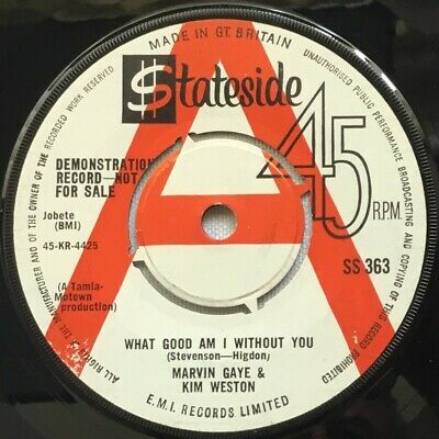 Marvin Gaye & Kim Weston - 'what Good Am I Without You' R/w Demo 1964 V. Rare!!! • 125£