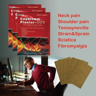 New 8 Plaster's Pain Relieving Patch Capsicum Plaster HOT Joint Neck Pain Back £ • 2.75£