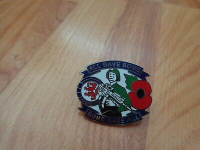 £9.99 • Buy Classic Glasgow Rangers Fc + Poppy 'all Gave Some, Some Gave All' Pin Badge