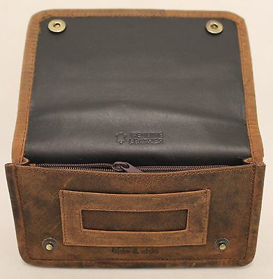 AU29.99 • Buy Quality Full Grain  Vintage Leather Tobacco Pouch. Style:12033. BLACK/BROWN
