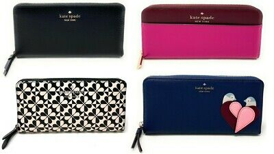 $ CDN96.73 • Buy Kate Spade Cameron Staci Large Continental Leather Zip Around Wallet
