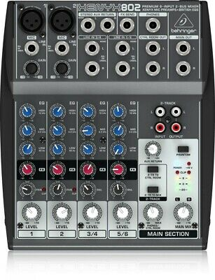 Behringer 8 Input 2 Mono Stereo Output Compact Mixer 802 XENYX Audio Equipment • 111.40£