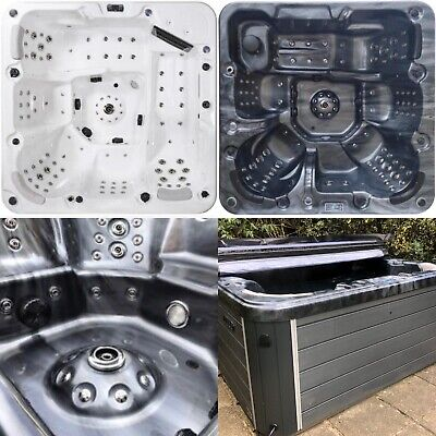 Luxury Hot Tub ⭐️100 Jets 6 Person 32 Amp Bluetooth Black New Jet Stream Deluxe • 4,999£