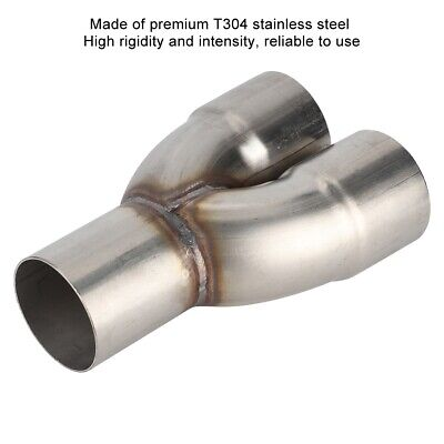 AU38.03 • Buy Y Exhaust Pipe Adapter 2.5in OD Inlet To 2.5in ID Dual Universal In Stainless