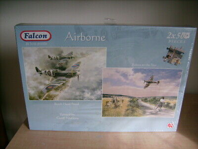 2x500 FALCON 'Airborne' Jigsaws. NEW. Battle Of Britain Spitfire • 10.99£