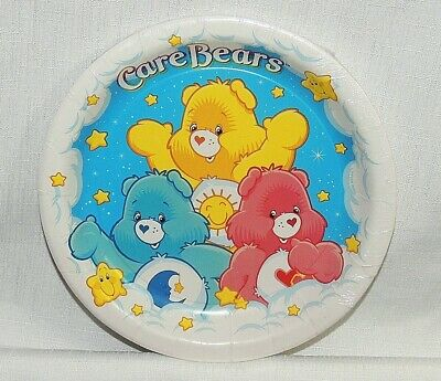 New Care Bears    8-paper Lunch Plates 9  In Diameter-   Party Supplies • 6.74£