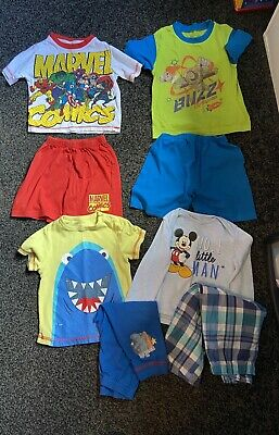 Boys 18-24 Months Clothes Bundle X 8 Pyjama Tops & Trousers (not All Matching) • 12.50£