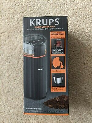 KRUPS Silent Vortex 3-in-1 Coffee, Spices And Dry Herbs Electric Grinder - BLACK • 41.22£