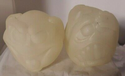 $ CDN31.66 • Buy Vtg Halloween Mad Ghost Balls Set Scary Ghoul Face Glows In Dark Toy Noisemaker