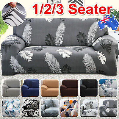 AU18.99 • Buy 1/2/3 Seater Sofa Covers Washable Stretch Lounge Chair Slipcover Protector Couch