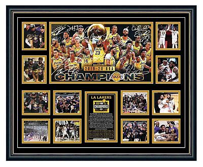 AU99.99 • Buy La Lakers 2020 Nba Champions Lebron James Davis Signed Photo Framed Memorabilia