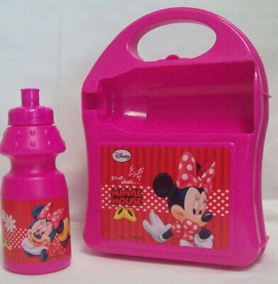 Disney Minnie Mouse Carry-along Hardcase Lunch Box With Sport Bottle 350ml • 5.79£