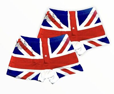 Mens Union Jack 2 Pack Boxer Shorts Summer Colour Pride Deal Offer British Flag • 6.99£