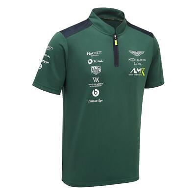 Aston Martin Racing Team Polo Shirt Sterling Gree Size Large • 19.90£