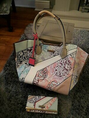 *Gorgeous River Island Floral Tote Bag And Matching Purse, BNWOT • 55£