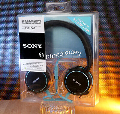 Sony ZX610AP Headphones - Black & Blue Brand New! • 13.49£