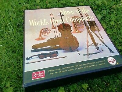 Classical Vinyl 12 LP Records Box Set Music Of The Worlds Great Composers Reader • 4.29£