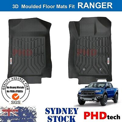 AU99 • Buy 3D TPE All Weathe Floor Mats Liner For Ford Ranger PX PX2 PX3 Wildtrak Front Mat