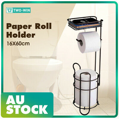 AU28.89 • Buy Vintage Free Standing Toilet Paper Roll Holder Fr Bathroom Storage 16 X 16 X 60