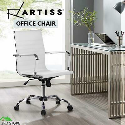 AU113.10 • Buy Artiss Gaming Office Chair PU Leather Executive Computer Desk Chairs Work White