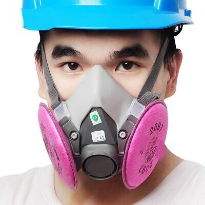 £11.09 • Buy Gas Mask 6200+2097 Gas Mask Suit Respirator Painting Spraying Face Size M
