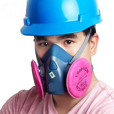 £10.24 • Buy Gas Mask 7502+2091 Gas Mask Suit Respirator Painting Spraying Face Size M