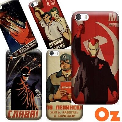 AU11 • Buy Soviet Style Comic Heroes For Sony Xperia XZ2 Premium, Painted Back Cover