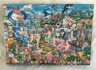 Gibsons  I Love Great Britain  By Mike Jupp - 1000 Piece Jigsaw Puzzle • 11£