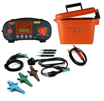 Socket & See MFT5000 Multifunction Installation Tester - 18th Edition Compliant • 595£