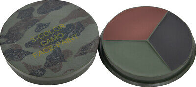 Woodland Camouflage Face Paint With Round Case & Mirror 3 Color • 5.65£