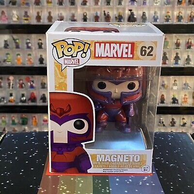 New Funko POP! Vinyl #62 Magneto Erik Lehnsherr Marvel X-Men Comics Gift Figure • 15£