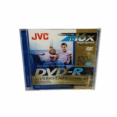 £4.34 • Buy Factory Sealed - JVC DVD R Recording Discs New 16x High Speed 120 Minute