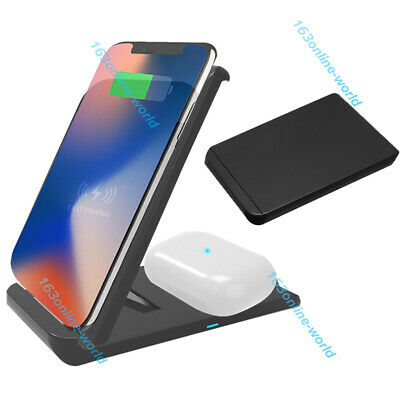 AU19.99 • Buy Qi Wireless Charger Fast Charging Dock Stand Station For IPhone 11 Pro XR XS X 8