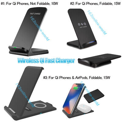 AU20.99 • Buy AU 15W Fast Qi Wireless Charger Dock Stand For IPhone 11 XS 8 XR Samsung S20 S10