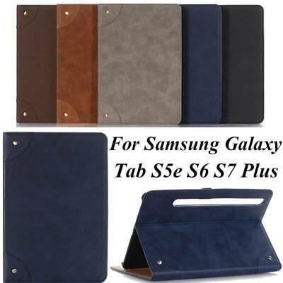 AU17.45 • Buy For Samsung Galaxy Tab S5e S6 S7 Plus 12.4  Tablet Case PU Leather Smart Cover