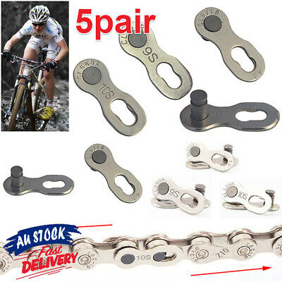 AU8.85 • Buy 5 Pairs QR + Simple Too 6/7/8/9/10/11 Speed Bike Chain Link Connector Master