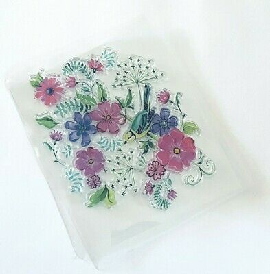 Large Flower Clear Stamp/bird/stamping-card Making-silicone-transparent-10x12cm • 6£