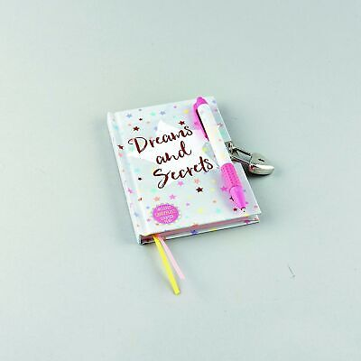 Dreams & Secrets Lockable Diary With Snifty Scented Pen In Candy Floss • 17.27£