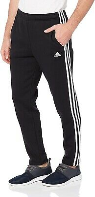 Mens Adidas Track Sweat Pants Tracksuit Bottoms Joggers - Black - Large • 8.50£