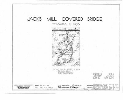 $ CDN15.55 • Buy Jack's Mill Covered Bridge,Henderson Creek,Oquawka,Henderson County,IL,HAB 9766