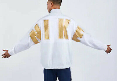 Mens Nike Social Currency Woven Track Top Jacket White Xl New Rrp £89.99 Rare • 59.99£