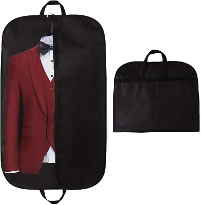 STEVOY 40  Suit Carrier Bag, Clothes Covers With Handles For Travel, Foldover • 8.60£