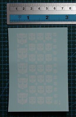 £3.99 • Buy Water Slide Decals Transformers AUTOBOT (67 White) For Model Kits